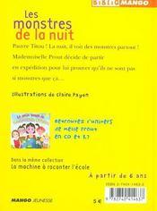 Le petit monde de mademoiselle Prout t.1 ; les monstres de la nuit - 4ème de couverture - Format classique