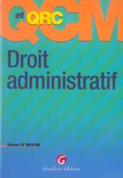 Qcm et qcr droit administratif - Couverture - Format classique