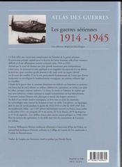 Atlas des guerres - les guerres aerienne - 4ème de couverture - Format classique