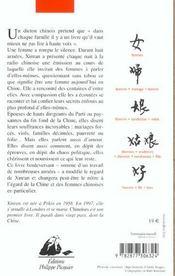 Chinoises - 4ème de couverture - Format classique