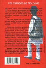 Les Csángós de Moldavie t.1 - 4ème de couverture - Format classique