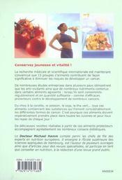 Les 13 aliments anti-cancer - 4ème de couverture - Format classique