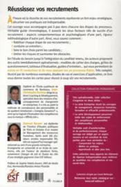 Réussissez vos recrutements ; de la définition du besoin à l'intégration du collaborateur (3e édition) - 4ème de couverture - Format classique