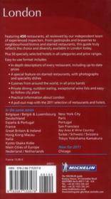GUIDE ROUGE ; London ; restaurants & hôtels (éditions 2011) - 4ème de couverture - Format classique