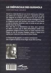 Le crépuscule des guignols - 4ème de couverture - Format classique