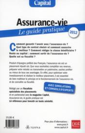 Assurance-vie ; le guide pratique (édition 2012) - 4ème de couverture - Format classique