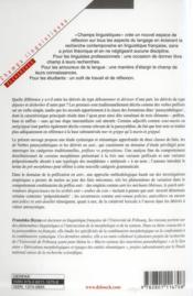 Études morpho-syntaxique des parasynthétiques ; les dérivés en -dé et en -anti - 4ème de couverture - Format classique