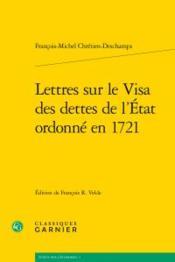 Lettres sur le visa des dettes de l'Etat ordonné en 1721 - Couverture - Format classique