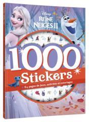 1000 stickers ; la Reine des Neiges 2 - Couverture - Format classique