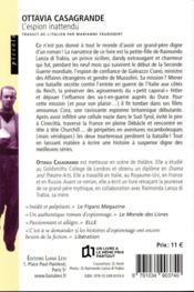 L'espion inattendu - 4ème de couverture - Format classique
