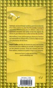 L'alchimiste - 4ème de couverture - Format classique