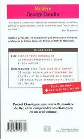 Georges dandin - 4ème de couverture - Format classique