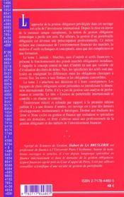 Gestion Obligatoire T.1 ; Marches Taux D'Interets Et Actifs Financiers ; 2e Edition - 4ème de couverture - Format classique