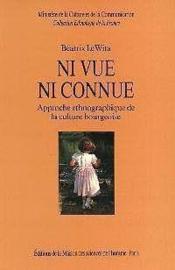 Ni Vue Ni Connue - Couverture - Format classique