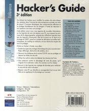 Hacker's guide (3e édition) - 4ème de couverture - Format classique