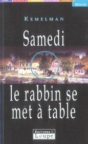 Samedi le rabbin se met a table - Intérieur - Format classique