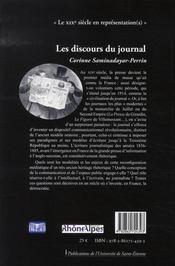 Les discours du journal ; rhétorique et médias au xix siècle, 1836-1885 - 4ème de couverture - Format classique