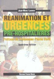 Reanimation Et Urgences Pre-Hospitalieres (4e édition) - Intérieur - Format classique