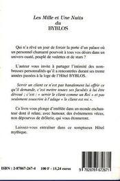 Les Mille Et Une Nuits Du Byblos - 4ème de couverture - Format classique