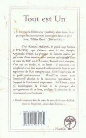 Tout est un (Ellâm Onru) ; texte tamoul anonyme du XIX siècle - 4ème de couverture - Format classique