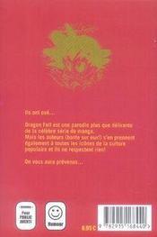 Dragon fall t.2 ; soson et végétal - 4ème de couverture - Format classique