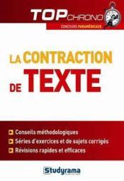 La contraction de texte - Couverture - Format classique