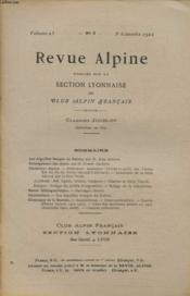 Revue Alpine Volume 23 N°3 : Les Aiguilles Rouges Du Dolent - Enneigement Des Alpes... - Couverture - Format classique