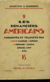Les Romanciers Americains. - Couverture - Format classique
