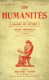 LES HUMANITES, CLASSES DE LETTRES, 32e ANNEE, N° 311, N°3, DEC. 1955 - Couverture - Format classique