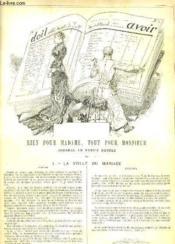LA VIE PARISIENNE 18e année - N° 48 - RIEN POUR MADAME, TOUT POUR MONSIEUR, JOURNAL EN PARTIE DOUBLE de VIGILES-JEUNE - RENTREE AU COUVENT de A. A. - COUPES DE CHEVEUX - LES HOMMES DU JOUR: LE CHIMISTE RAOUL BRAVAIS (inventeur du fer dialysé Bravats). - Couverture - Format classique