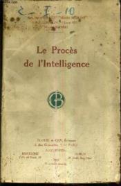Le Proces De L'Intelligence - Couverture - Format classique