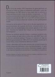 Les OGM ; pourquoi la France n'en cultive plus ? - 4ème de couverture - Format classique