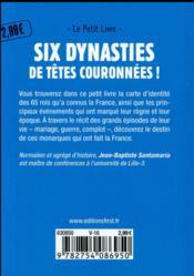 Rois de France (3e édition) - 4ème de couverture - Format classique