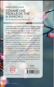 Comme une feuille de thé à Shikoku - 4ème de couverture - Format classique
