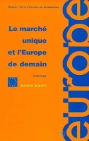 Marche unique europe demain - Couverture - Format classique