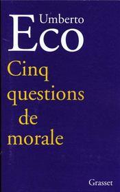 Cinq questions de morale - Intérieur - Format classique