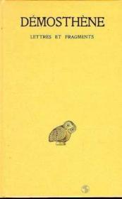 Lettres et fragments - Couverture - Format classique