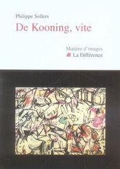 De kooning, vite - Intérieur - Format classique