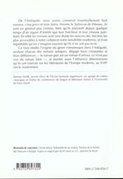 Le Roman Grec Et Latin - 4ème de couverture - Format classique
