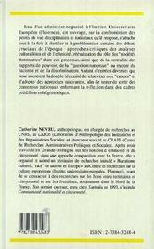 Nations, frontières et immigration en Europe - 4ème de couverture - Format classique