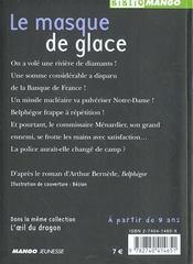Belphégor t.2 ; le masque de glace - 4ème de couverture - Format classique