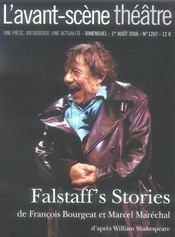 REVUE L'AVANT-SCENE THEATRE N.1207 ; Falstaff's stories - Intérieur - Format classique