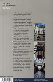 Le guide du promeneur de Paris - 4ème de couverture - Format classique