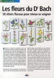 Les fleurs du Dr Bach ; 38 élixirs floraux pour mieux se soigner - Intérieur - Format classique