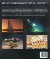 Les mysteres des navigateurs de l'antiquite - 4ème de couverture - Format classique