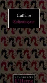 L'affaire soljenitsyne - Couverture - Format classique