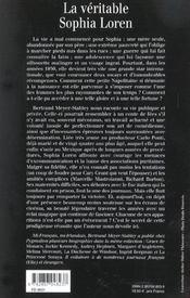 La Veritable - 4ème de couverture - Format classique