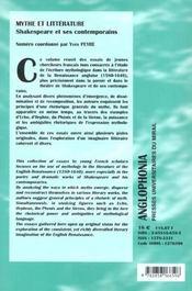 Revue Anglophonia - 4ème de couverture - Format classique