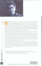 Paris-buenos aires un siecle de tango - 4ème de couverture - Format classique