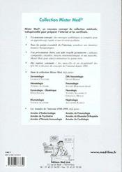 Maladies infectieuses et V.I.H. - 4ème de couverture - Format classique